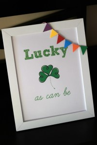FREE Printable – Lucky As Can Be