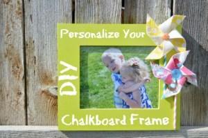 DIY Chalkboard Frame