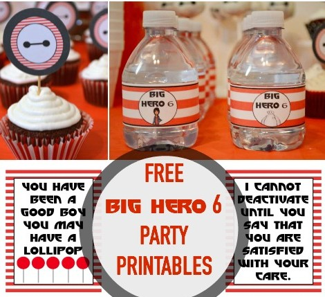 Free Big Hero 6 Printable Party Pack at OurThriftyIdeas.com
