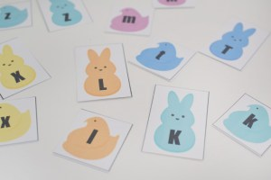 ABC Peeps Matching Printable for Toddlers