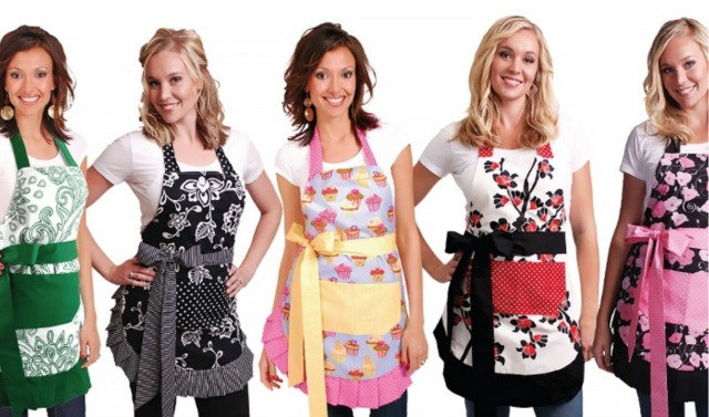 Give your mom some flirty aprons for Mothers Day