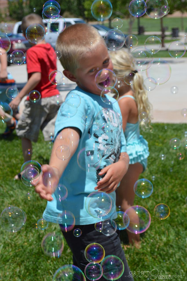 bubbles at a playdate