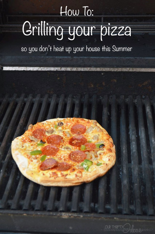 how to grill your pizza