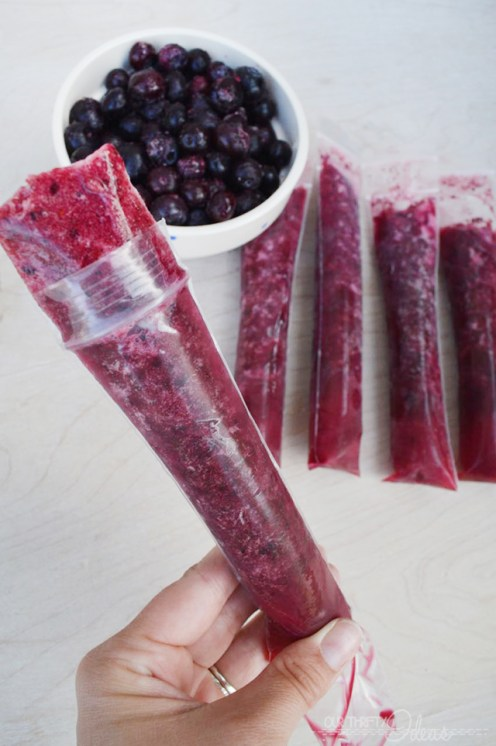 healthy 3 ingredient popsicles pineapple blueberry