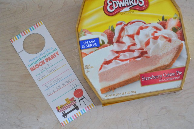 edwards pie with blook party invite