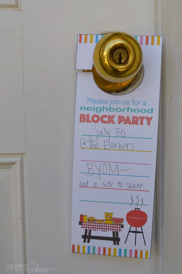 I'm definitely using this cute printable for our next neighborhood block party. What a cute and easy idea