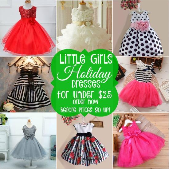 Little Girls Holiday Dresses for under $25