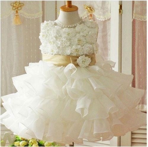 White flower tutu dress