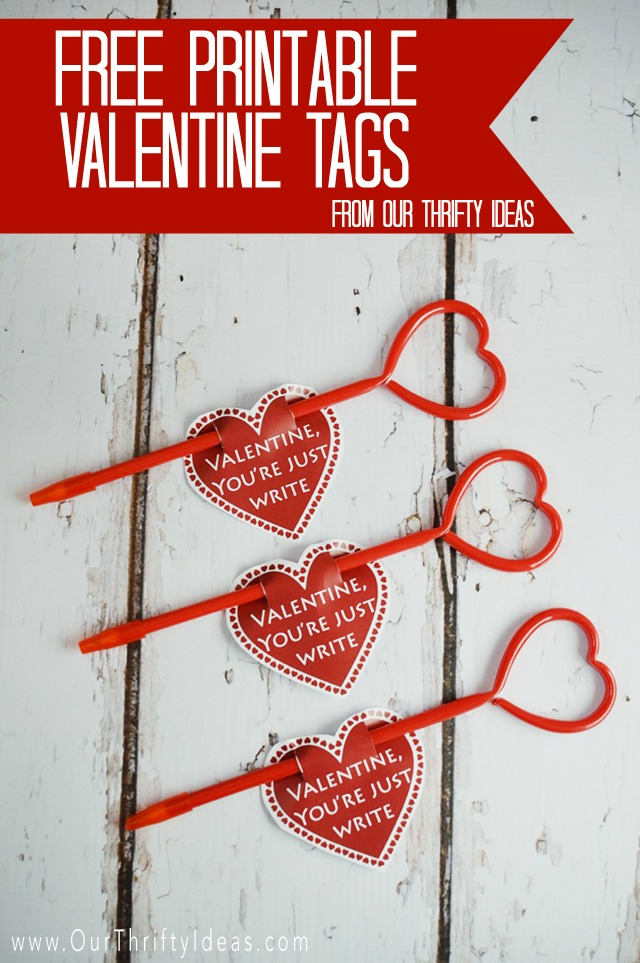 Youre Just Write Valentine Printable Our Thrifty Ideas