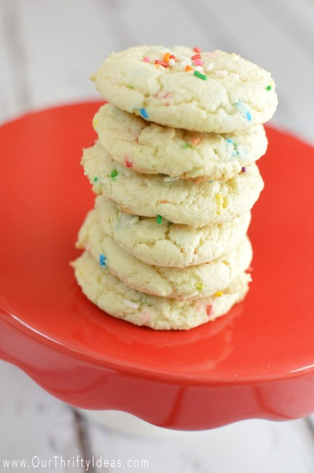almond funfetti cookies