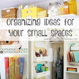 Organize Small Spaces