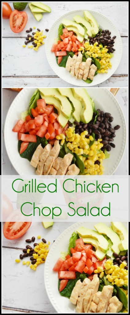 Grilled Chicken Chop Salad Recipe at OurThriftyIdeas.com