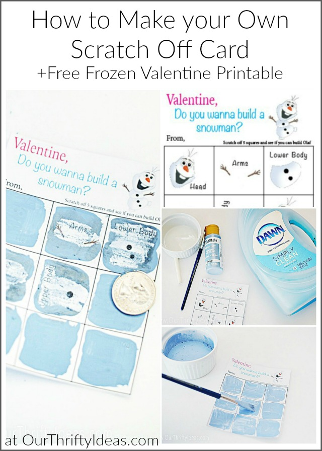 photograph relating to Do You Want to Build a Snowman Printable named Do Yourself Will need In the direction of Acquire A Snowman - Do it yourself Scratch Off Valentine