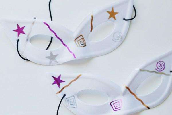 Family Friendly DIY Mardi Gras Masks