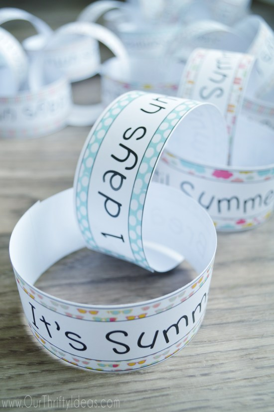 Summer Break Countdown Printable Chain