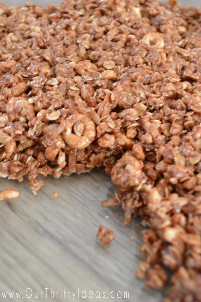 salted nutella cheerios bars