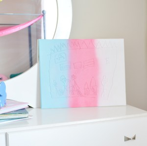 Turn Your Child's Drawings into Canvas Wall Art