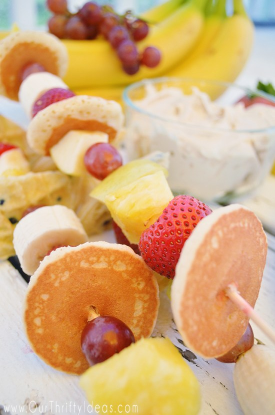 Breakfast Kabobs are a fun way to get your kids excited about a healthy breakfast. Plus they are pretty!