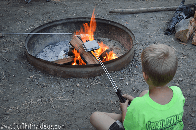 Roasting biscuits over the campfire creates the tastiest campfire scones!