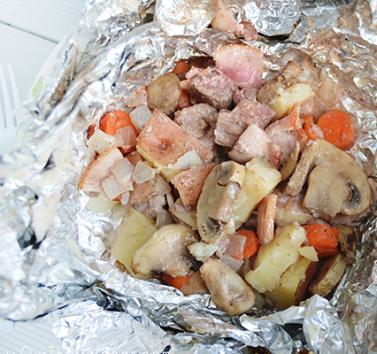 Tin Foil Dinners – Over A Wood Burning Fire
