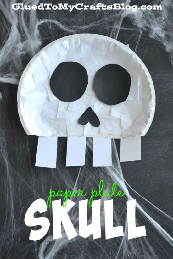 paper plate skull