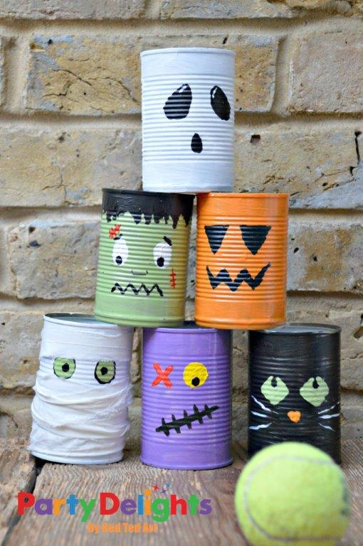 Halloween Tin Can Bowling