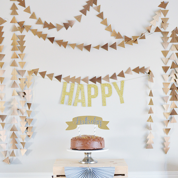 Easy Triangle Garland – Tutorial