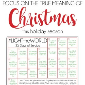 25 Days of Christlike Example – #LIGHTtheWORLD