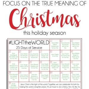 25 Days of Christlike Example – #LIGHTtheWORLD