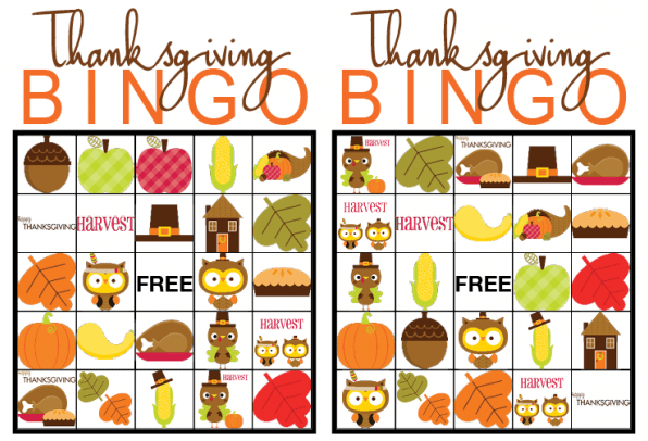 photograph regarding Thanksgiving Bingo Printable named Thanksgiving BINGO free of charge Printable Sport - Our Thrifty Options