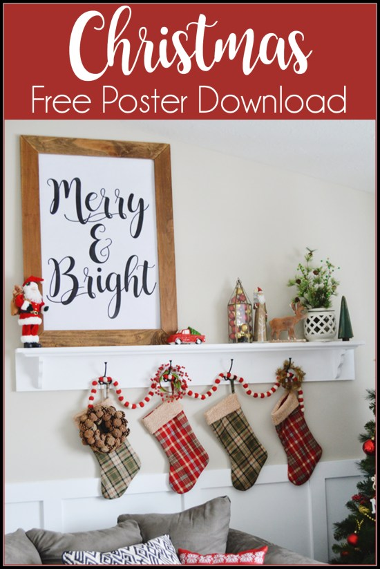 A free download that you can get printed HUGE for less than $5. Fun way to decorate for the Holidays