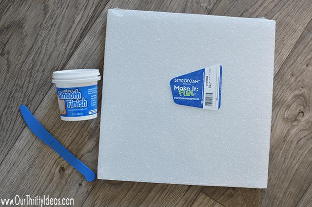 smooth finish on foam block