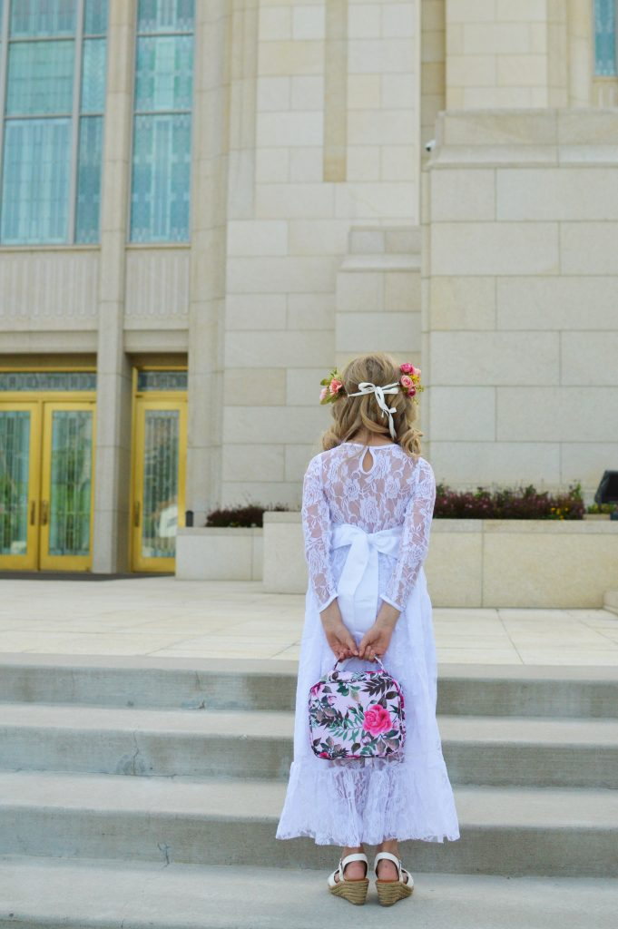 Little Girls Baptism Dress and Scriptures