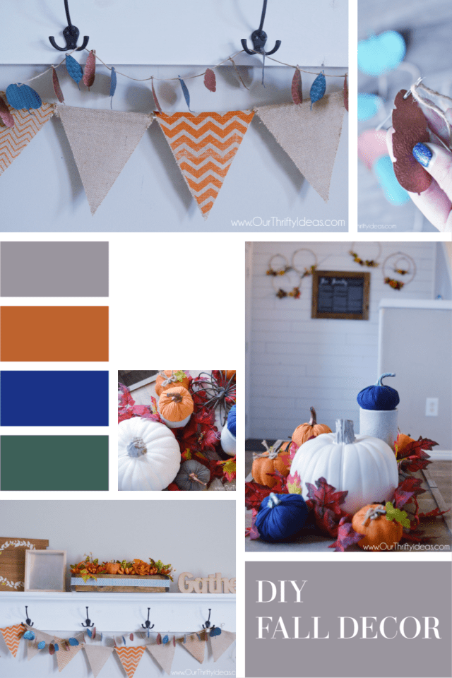 Fall decor made with Cricut maker