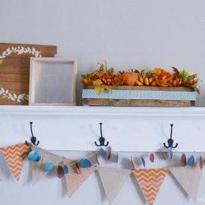 Fall Shelf Decor made with cricut maker