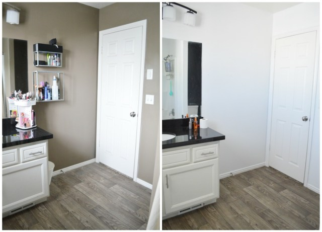 Master Bathroom Makeover paint before and after