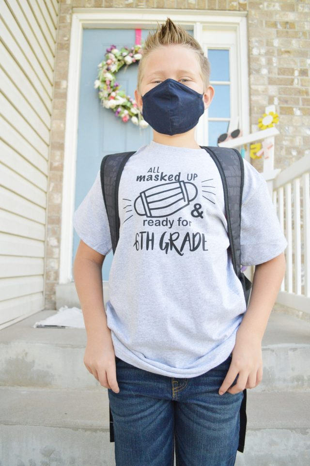 Coronavirus Back to School shirt tutorial