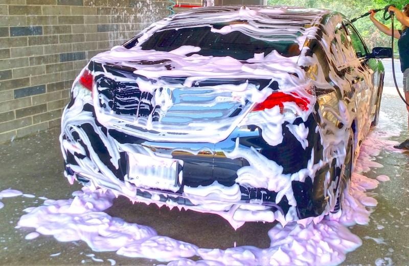 Self-Serve car wash foaming brush