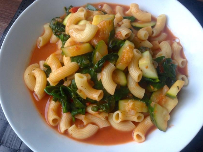 Chili Spinach Pasta