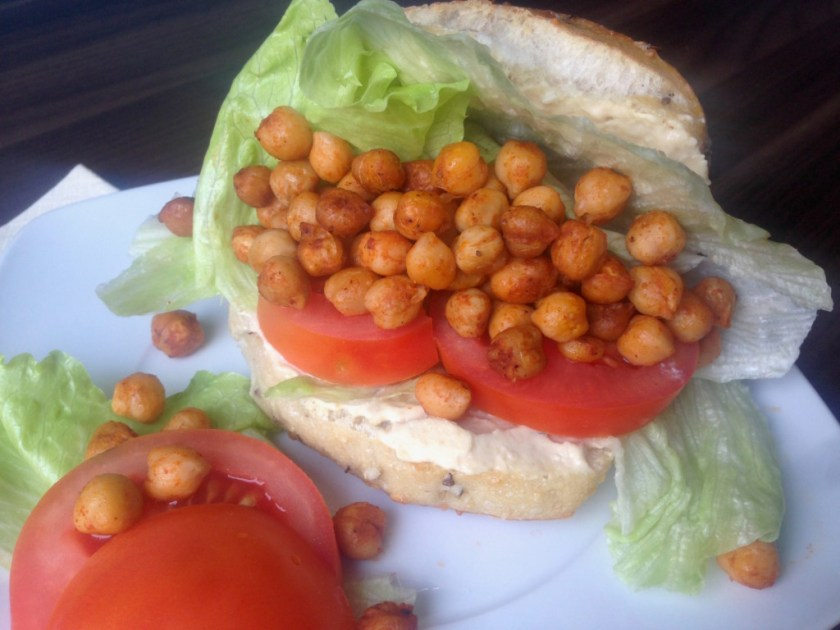 Vegan Roasted Chickpea Sandwich
