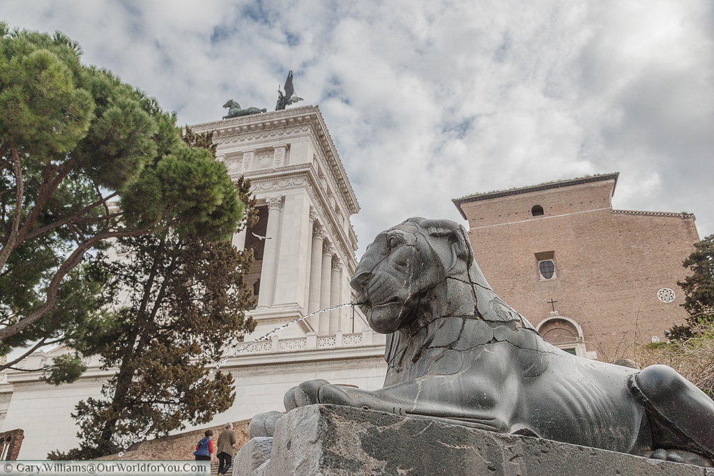 A Lion on the approach to Capitoline Hill, Rome, Italy