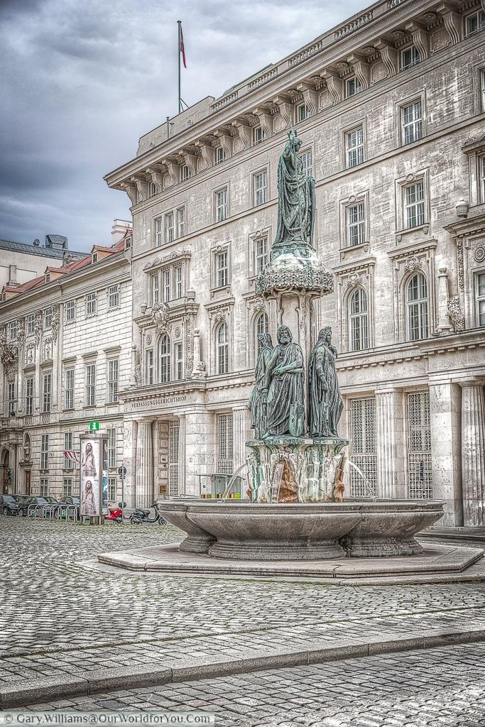 The Austria Fountain or Austriabrunnen, Vienna, Austria