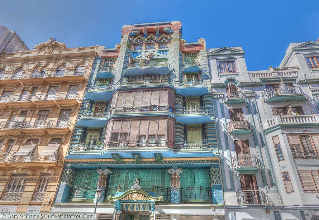 A beautiful building on Carrer de Castelló, Valencia, Spain