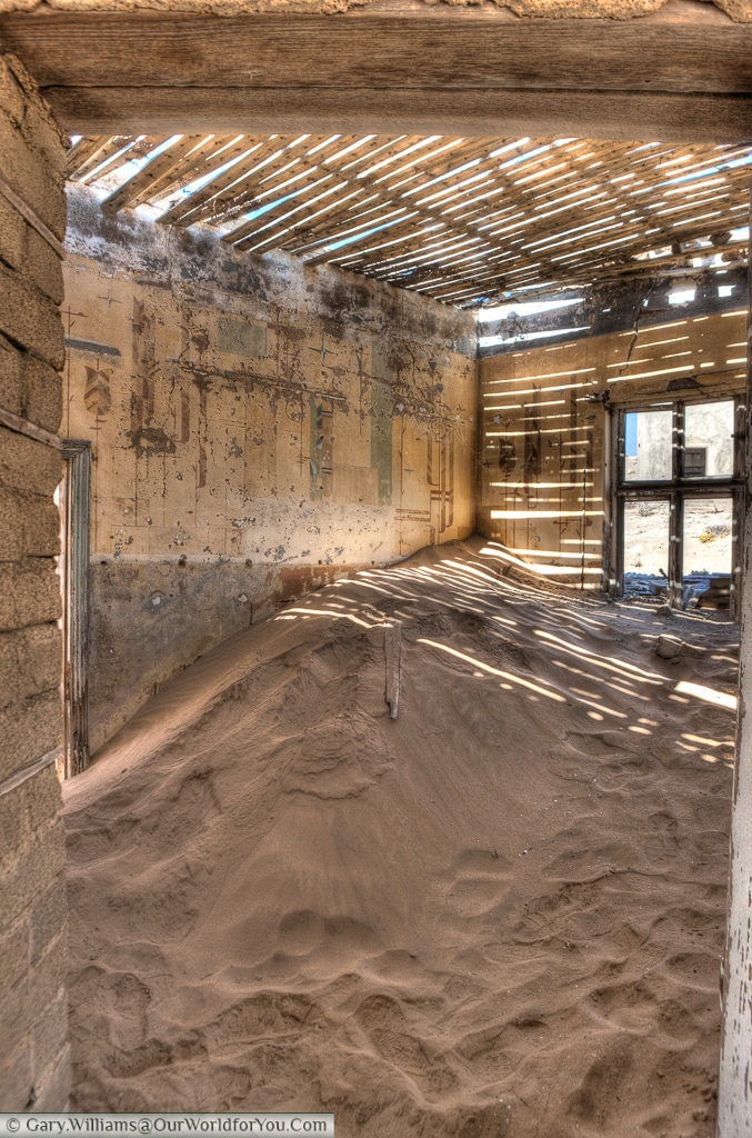 Iron in the sand, Kolmanskop, Namibia