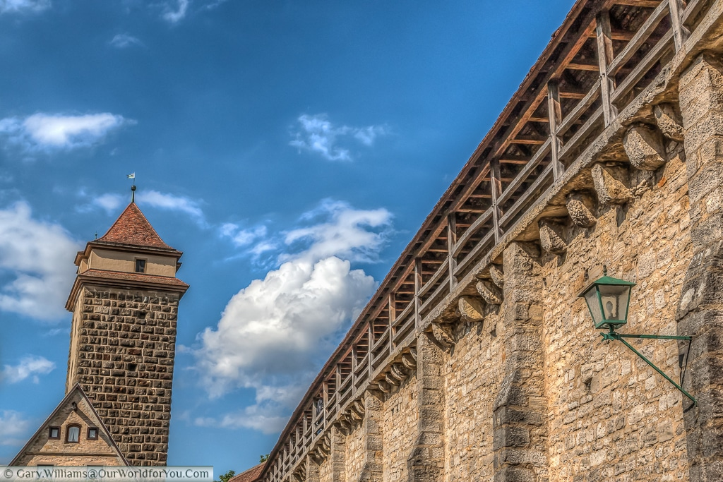 Rothenburg's Old Town Walls, Rothenburg ob der Tauber, Bavaria, Germany
