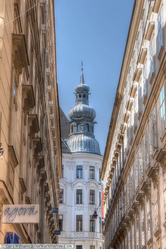 The view along a street in Vienna, Austira.