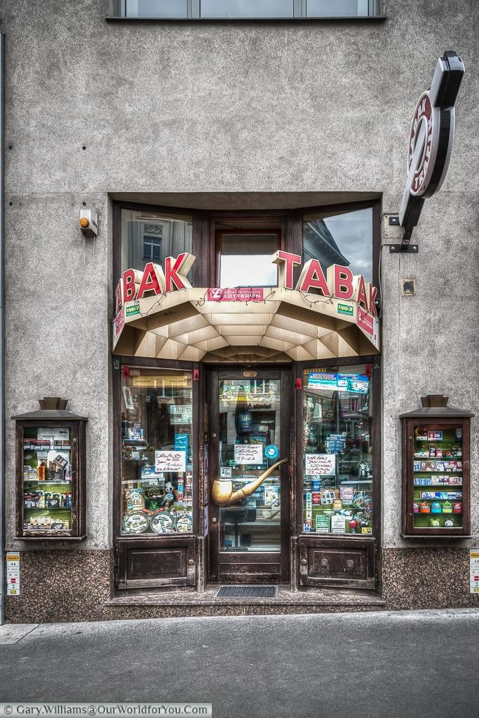 A quaint old tobacconist in Hoher Markt, Vienna, Austia