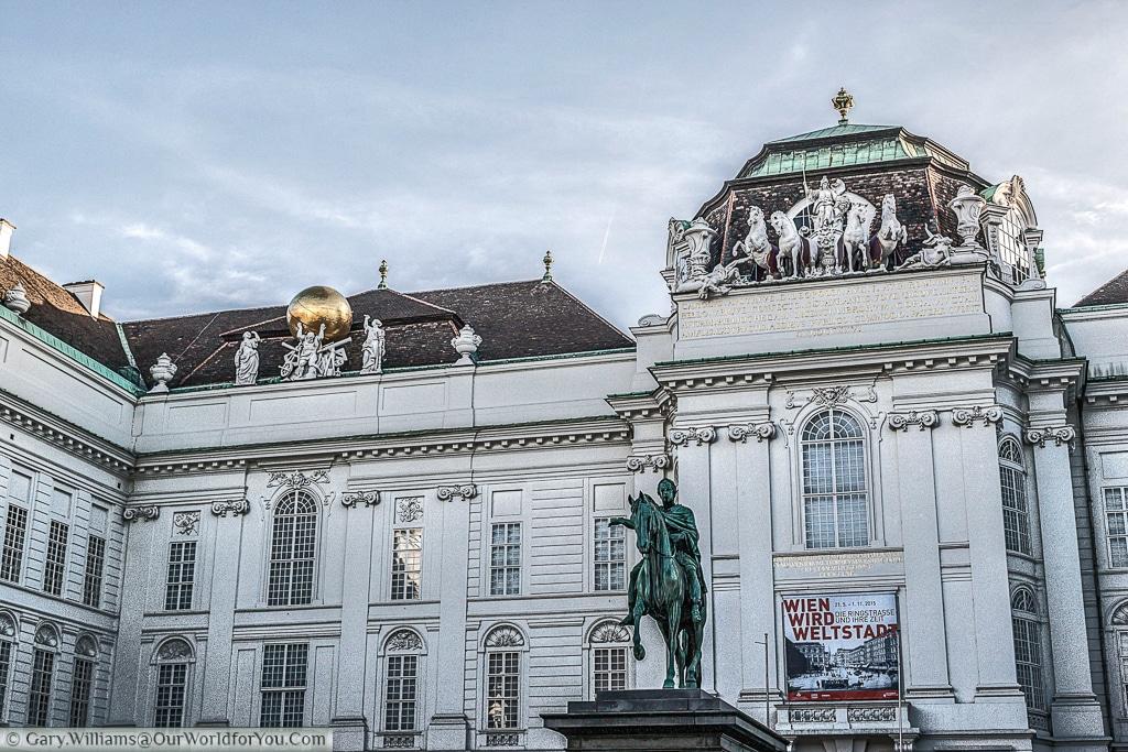The Austrian National Library from Josefsplatz