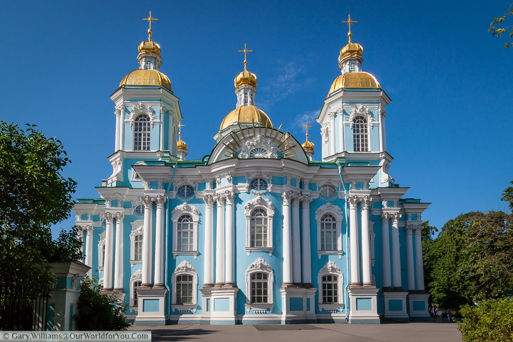 The St. Nicholas Naval Cathedral, St Petersburg, Russia