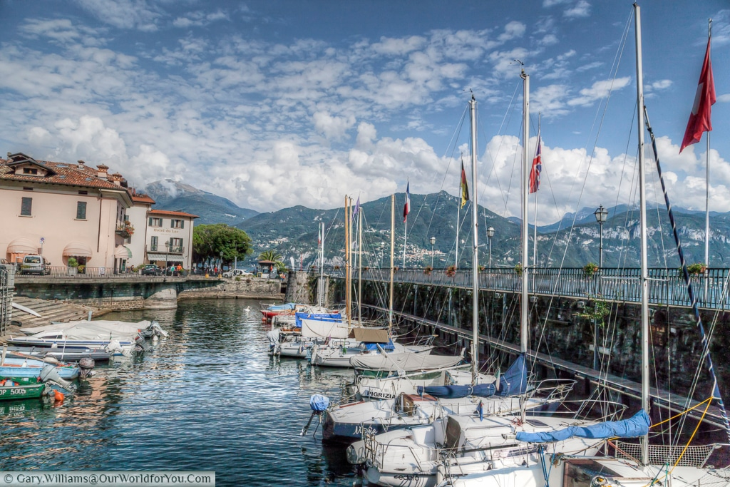 The harbour at Menaggio, Lake Como, Lombardy, Italy
